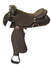 "WESTERN SYNTHETIC ENDURANCE SADDLE PKG (WITHOUT HORN) BROWN 15""  (WS_1031)"