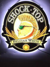"""Rare New Shock Top Belgian White LED 3D Neon Sign with Back-lit 20"""""""
