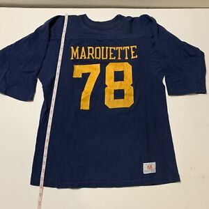 vintage champion football jersey marquette university or michigan 70s Mens med
