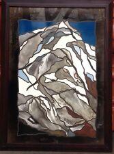 ::ORNAMENTE GLAS-DESIGN BILD RAHMEN °BERLIN MODERN ART ALPEN BERGE ABSTRAHIERT