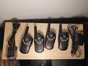(4) Cobra CXT88 MicroTalk 16 Mile 22 Ch. Walkie Talkie 2-Way Radio W/Belt Clip