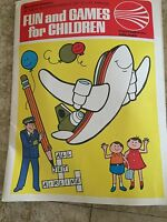 1984 Continental Airlines Kids Coloring Activity Book  Promo Giveaway