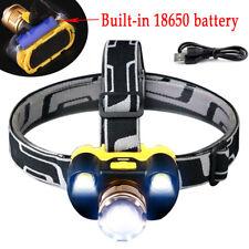 35000LM ZOOM Headlamp CREE XM-L T6+COB LED Headlight Head Light 18650 Flashlight