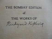 SIGNED/Ltd 1050: Rudyard Kipling, Bombay 1913-27, 26 Volume Set, Complete Works
