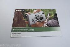 Sony Cybe-rshot DSC-W7 / W17 /W5 / W15 accesorios accessories catalog vintage