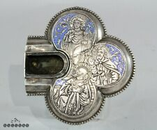 More details for antique 18 / 19th century silver & enamel reliquary