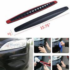 Car Accessories Bumper Corner Plate Carbon Fiber Anti Scratch Rubber Stickers