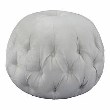 Pod Footstool Cube Stool bench in BEIGE Chenille fabric NEW