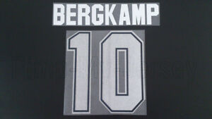 BERGKAMP #10 Arsenal Home 95-97 Name Set