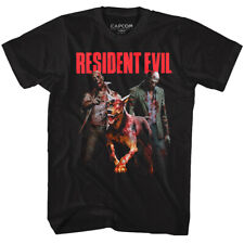 Resident Evil Zombie Dog Walkers Men's T Shirt Monster Hits Attack Capcom Gaming
