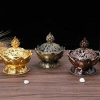 Buddha Incense Burner Lotus Flower Classic Alloy Tibetan Mini Sandalwood Censer