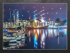 LED Wandbild Schiffe im Hafen Bontekai Wilhelmshaven Leuchtbild 40x30 cm