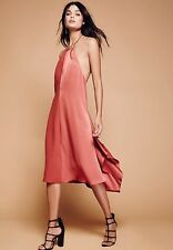 FREE PEOPLE Lila Party Midi Dress in Rose Size Small $250.00 NWT OB565123