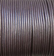 Imported India Leather Cord 2mm Round 5 Yards
