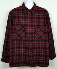Vtg Pendleton Flannel Board Shirt Mens XL Wool Plaid Long Sleeve Button Front