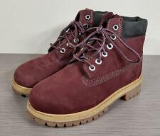Timberland Premium Waterproof Leather Boot, Dark Port, Little Kid Size 13.5 / 32