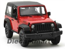 Miniature Maisto 1/18 Jeep Wrangler 2014 Red Rouge