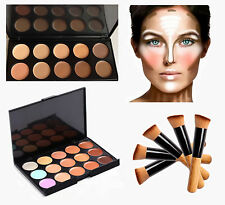 10 &15 Colours Concealer Palettes With Brush Face Cream Contour Make-up Kits
