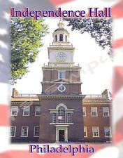 PHILADELPHIA - Independence Hall Travel Souvenir Magnet