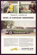 1959 Vintage Chrysler Windsor Hardtop Car Photo vintage print ad