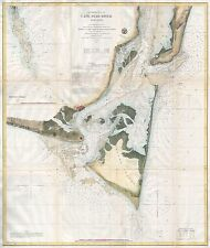 1866  USC.S. Map of Cape Fear and Vicinity North Carolina version 2