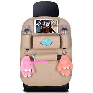 Pu Leather storage bag Universal Car Backseat Organizer Hanging Foldable bag