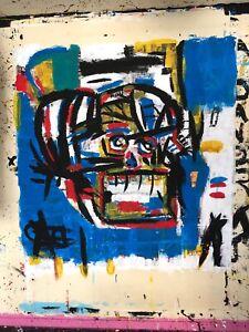 Jean Michael Basquiat Samo Painting Modern Art, Abstract Street, Remake Remaster