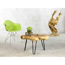 Couchtisch Baumscheibe Baumkante Massivholz Teak Unikat Design