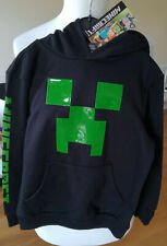 Minecraft Hoodie Black Green Applique Sizes 6-7 Yrs to 10-11 Yrs Licensed Mojang