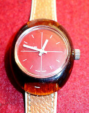 Vintage Armbanduhr,Buler,1970,Schweiz,mechanisch, Gehäuse a. Kuststoff,Mode
