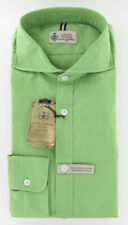 Imperfect $375 Borrelli Green Shirt L/L
