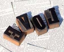 """LOVE"" Holzbuchstaben Drucklettern Dekoration Lettern Vintage shabby chic wood"