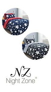Luxury Teddy Bear Stars Fleece Duvet Cover Soft Cosy Warm Stars Kids Bedding Set