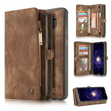 CASEME Folio Magnetic Removable Leather Card Wallet Case For Samsung S7 S8 Plus
