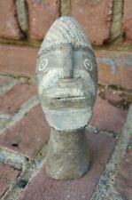 Antique African ? Primitive Stone Hand Carved Head Bust Face Ethnographic Nice!
