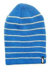 Vans Off The Wall Mismoedig Beanie Blue Striped Cuff Hat Cap 100% Acrylic NWT
