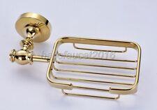 Wall Mounted Gold Color Bathroom Soap Dish Holder Soap Basket lba162