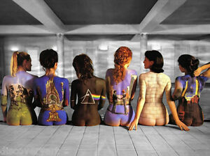 Pink Floyd Back Catalogue Album Stretched Canvas Wall Art Poster Print Music
