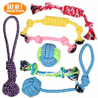 BK Puppy & Dog Play Toys for Small Dogs and Puppies - Set of 7