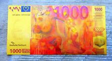 "★★ BILLET POLYMER  "" OR "" AVEC COULEURS DU 1000 EUROS EROTIQUE ★★ R6"