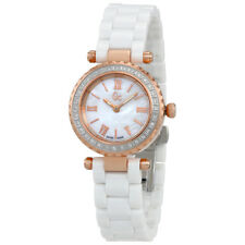 Guess Mini Chic White Mother of Pearl Dial Ladies Crystal Watch X70126L1S
