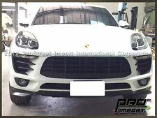 GT Front Bumper Splitter Lip Unpainted in Black Fits 2015 2016 Porsche Macan S