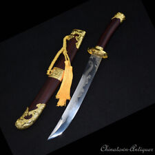 Dragon Teng Short sword QingDao Carbon Steel Blade Hand Polishing Sharp #1391