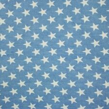 Jeans Sommerjeans blau Sterne weiß 1 40cm breite