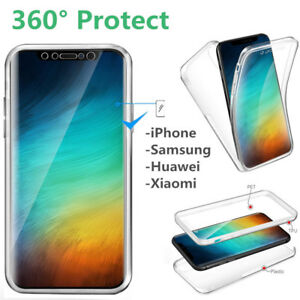 For Smart Phone 360° Protect Full Cover Shockproof Silicone Front+PC Back Case