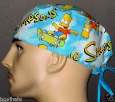 BART SIMPSON SKATEBOARDING SCRUB HAT / FREE CUSTOM SIZING!
