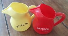 2 Anciens PICHET CARAFE BERGER Anisette Jaune et Rouge Bistrot Bar Collection