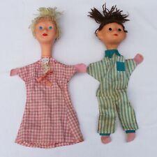 Marionnettes anciennes Nicolas et Pimprenelle Bonne nuit les petits