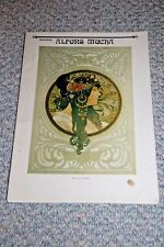 """PANORAMA ALFONS MUCHA COLLECTION OF HIS ART WORK 11 5/8"""" X 8 1/4""""...15 PAINTINGS"""