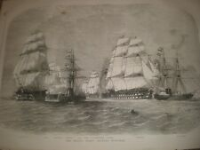 The Baltic Fleet leaving Spithead 1855 print ref AV